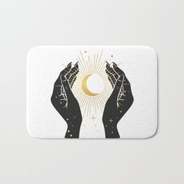 Gold La Lune In Hands Bath Mat