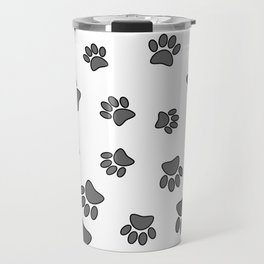 Spiral Dog Paw Print Travel Mug