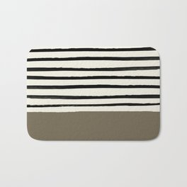 Cappuccino x Stripes Bath Mat