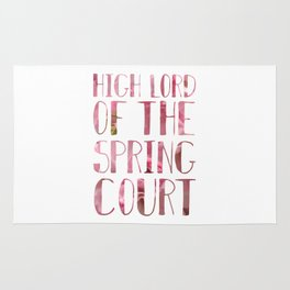 High Lord of the Spring Court Rug