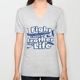 Fight Against Colon Cancer For Brother Unisex V-Neck