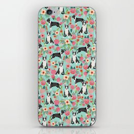Bull Terrier floral dog breed gifts pet pattern by pet friendly bull terriers iPhone Skin