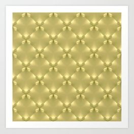 Bright Gold Studded Quilt Repeat Pattern Art Print
