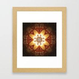 Elegant, decorative kaleidoskop Framed Art Print