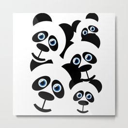 Panda-Monium!!! Metal Print