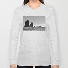 Cannon Beach Black & White Long Sleeve T-shirt
