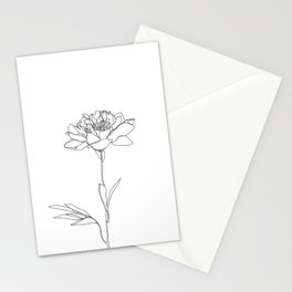 Botanical floral illustration line drawing - Lorna White Stationery Cards