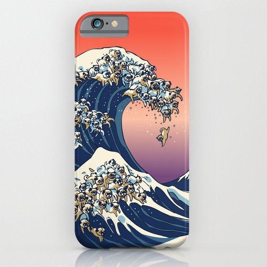 The Great Wave of Pug iPhone & iPod Case