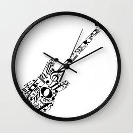 Musical guitar Wall Clock