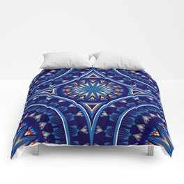 Blue Fire Keepers Comforters