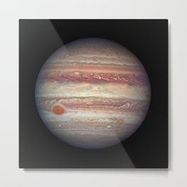 1090. NASA's Hubble Takes Close-up Portrait of Jupiter Metal Print