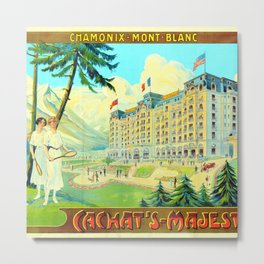 Chamonix-Mont-Blanc - Cachat's Majestic Metal Print