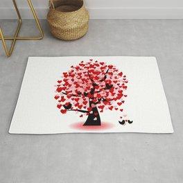 Valentine tree Rug