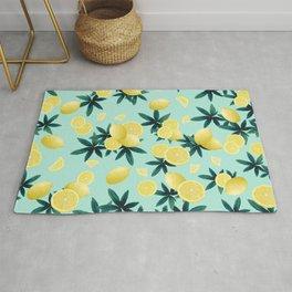 Lemon Twist Vibes #1 #tropical #fruit #decor #art #society6 Rug