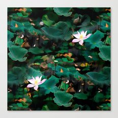 Lotus - A Pattern Canvas Print