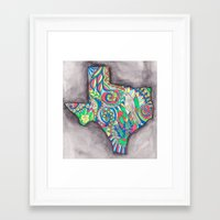 texas Framed Art Prints featuring Texas by Laura Maxwell