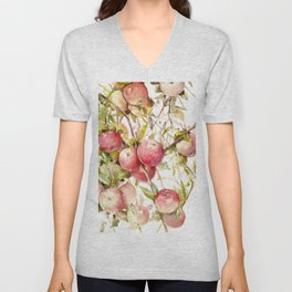 Apple Tree, kitchen design red olive green kitchen fruits Unisex V-Neck