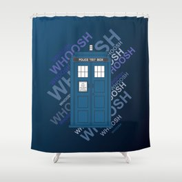 Tardis Whoosh sound Doctor Who Shower Curtain