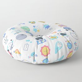 CUTE OUTER SPACE / SCIENCE / GALAXY PATTERN Floor Pillow