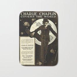 Charlie Chaplin Covers the World Bath Mat