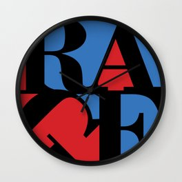 Renegades Red & Blue Wall Clock