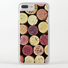 Wine Tops Clear iPhone Case