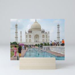Taj Mahal - Summer Construction Mini Art Print