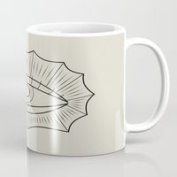 all seeing eye Mugs featuring ALL SEEING EYE by SMUK THINGS