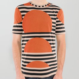 Abstraction_SUNSET_LINE_ART_Minimalism_001 All Over Graphic Tee
