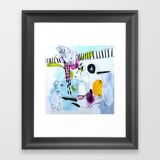 Your peonies my phone number Framed Art Print