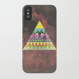 Pyramid in Space. iPhone Case