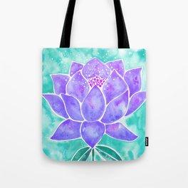 Sacred Lotus – Lavender Blossom on Mint Palette Tote Bag