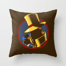 The Hardboiled Professor Throw Pillow