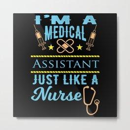 Nurse Nurse Medicine Doctor Sick Metal Print