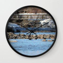 Winter Water Wall Clock