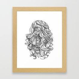 Perfect Curls Framed Art Print