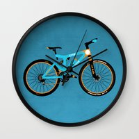 brompton Wall Clocks featuring Mountain Bike by Wyatt Design