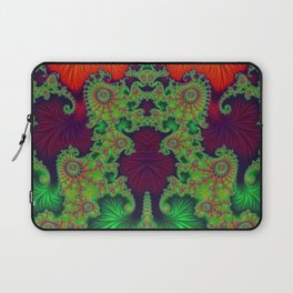 Psychedelic Centrepiece - Mirrored Fractal Art Laptop Sleeve