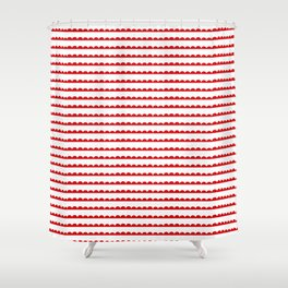 Red Scallop Shower Curtain