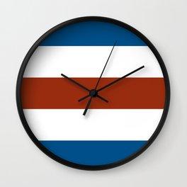 C for Charlie nautical maritime flag Wall Clock