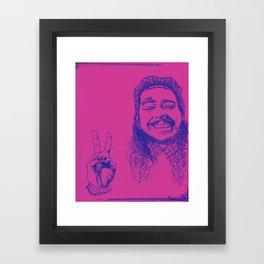 Happy Posty Framed Art Print