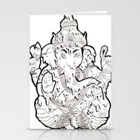 ganesha Stationery Cards featuring Ganesha by Sofia Bernikova