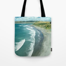 The famous Raglan beach, New Zealand Tote Bag