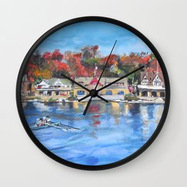 Boathouse Row, Philadelphia Wall Clock