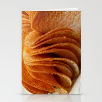potato Stationery Cards featuring Potato Chips by Guna Andersone & Mario Raats - G&M Studi