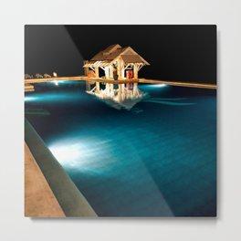 Pool Bar Metal Print