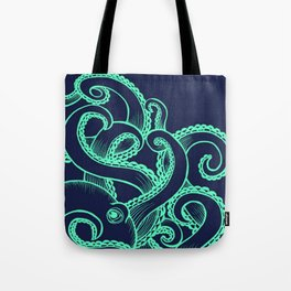 Octopus and the Deep Blue Sea Tote Bag