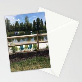 Sunny Lake Beach Stationery Cards
