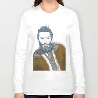 beard Long Sleeve T-shirts featuring beard by katiwo