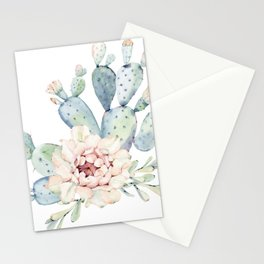 Perfect Cacti Rose Stationery Cards